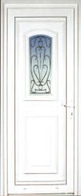 Porte d'extérieur en PVC Neobaie, modèle Guernesey