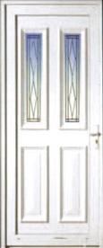 Porte d'extérieur en PVC Neobaie, modèle Marquise