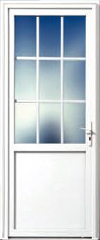 Portes d 39 entr es portes pvc menuisor for Porte de service bois vitree