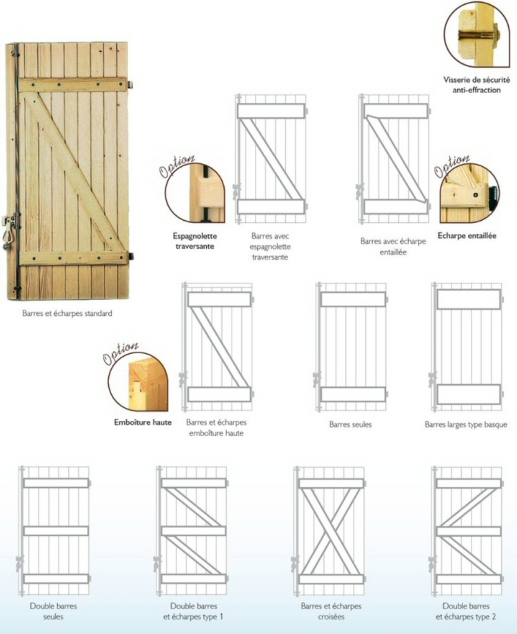 volets et persiennes la gamme bois menuisor. Black Bedroom Furniture Sets. Home Design Ideas